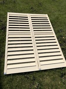 3 sets of Off white window Shutters