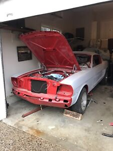 1966 mustang fastback, ready for paint