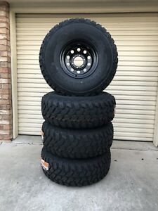 Brand new 35x12.5R15 muddies on 15x10 -44 Dynamic Round hole wheels Caboolture Caboolture Area Preview