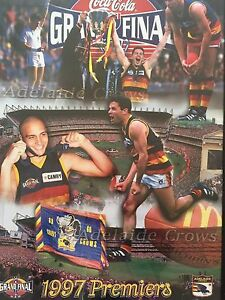 Adelaide Crows 1997 Framed Picture Sold Pending Pick Up, used for sale  Tranmere