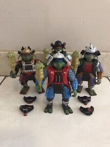 TEENAGE MUTANT NINJA TURTLES III MOVIE SAMURAI VINTAGE FIGURES