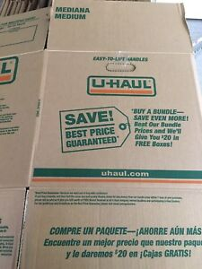 Used once. U-haul. Moving boxes