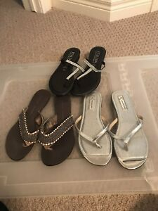 Three pair of sandals