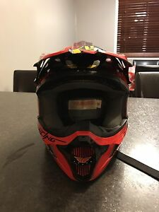 Fly racing dirt bike helmet