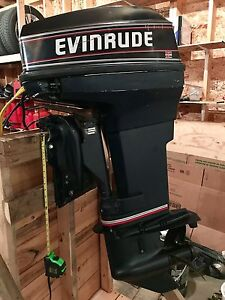 Good Running 1993 Evinrude 40 Long Shaft w/Controls and Steering