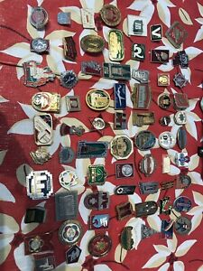 Lots of Russian and Lenin pins