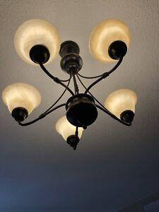 5 Light contemporary chandelier ceiling light/ new over $300