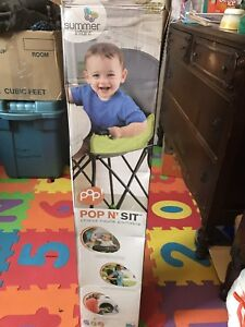 Pop and sit high chair