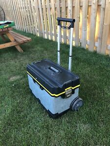 Stanley galvanized rolling tool chest full of drywall tools etc