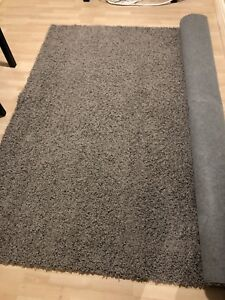 Grey shag rug for sale, 8'x10' excellent condition