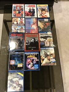 3D Blu rays, blu rays, and dvds
