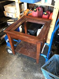 Free queen box spring and side table