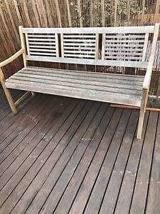 Retro outdoor/patio wooden bench chair North Willoughby Willoughby Area Preview