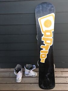Brand New Option Snowboard and Boots