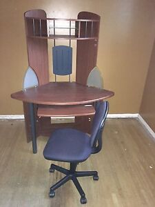 Computer desk with chairm