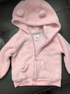 Baby girl fleece zip ups