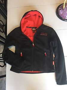 Harley Davidson fleecey zip up sweater