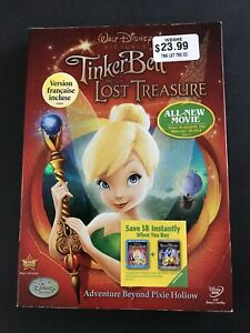 Walt Disney pictures Tinker Bell and the Lost Treasure DVD