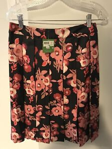 Kate Spade Floral Pleated Skirt BNWT Size 10