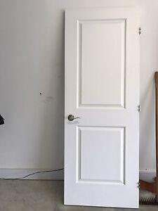 Porte blanche d'intérieur  avec poignée