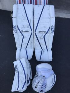 Brian's G-netik pro 2 pads and gloves for sale 34 plus 1""