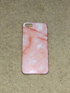 pink marbled silicon iPhone 5s case