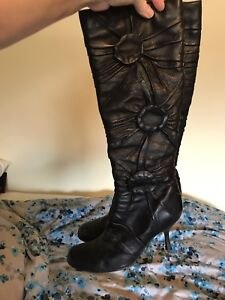 Aldo leather boots size 9 worn once