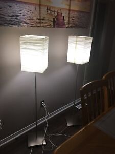 Stainless steel floor lamps from Ikea with Led bulb