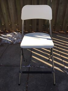 IKEA White Bar Stool