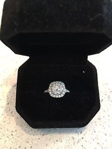 ***SOLD*** 2.92 Ct Round Cut Diamond Halo Solitaire Ring