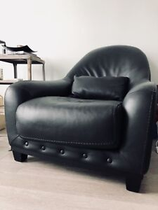 Real Leather Armchair in Great Condition / Originally $600