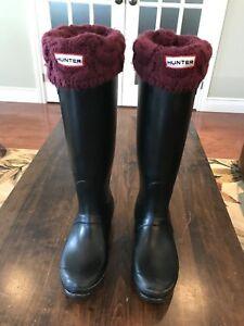 Hunter Adjustable Calf Rain Boots - Size 7 (womens)