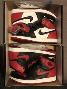 8540b1e39781 DS SIZE 11 JORDAN 1 BLACK TOE(2016) and BREDS(2013) ‼