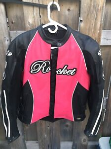 Women's Joe Rocket Leather Motorcycle Jacket