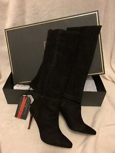H&M x BALMAIN SUEDE THIGH HIGH BOOTS