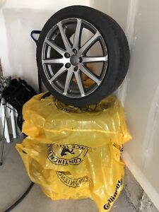 "18"" Audi TT rims 2 Tone on Goodyear 245/40/18"