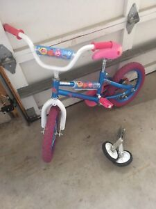 "14"" inch Girls bikes with training wheels excellent condition"