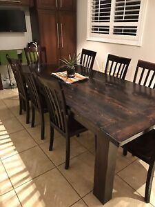Harvest Table & 8 Chairs
