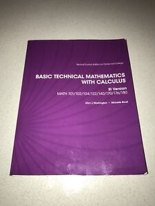 Basic technical mathematics with calculus kijiji in ontario buy basic technical mathematics with calculus kijiji in ontario buy sell save with canadas 1 local classifieds fandeluxe Image collections