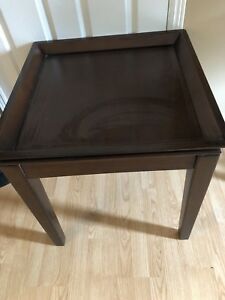 coffee and end tables, coasters and tray