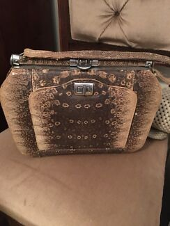 Crocodile skin handbag