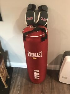 MMA heavy bag and gloves like new