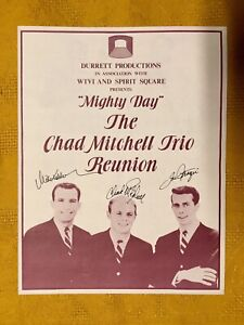 The Chad Mitchell Trio - Mighty Day Program (autographed)