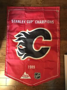 Calgary flames Stanley cup banner