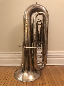 Besson Bb Silver-Plated Tuba