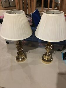 Gold lamps with shades