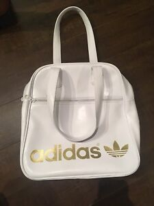 Adidas white and gold tote