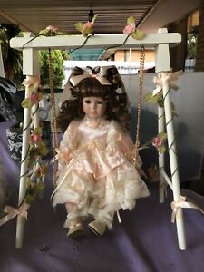 Porcelain doll with swing Clarkson Wanneroo Area Preview