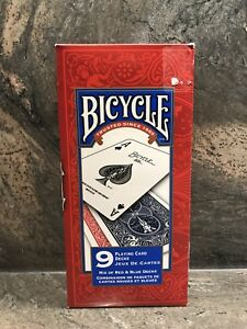 Bicycle playing cards (9 decks-new)