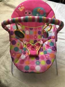 Baby girl bouncing chair